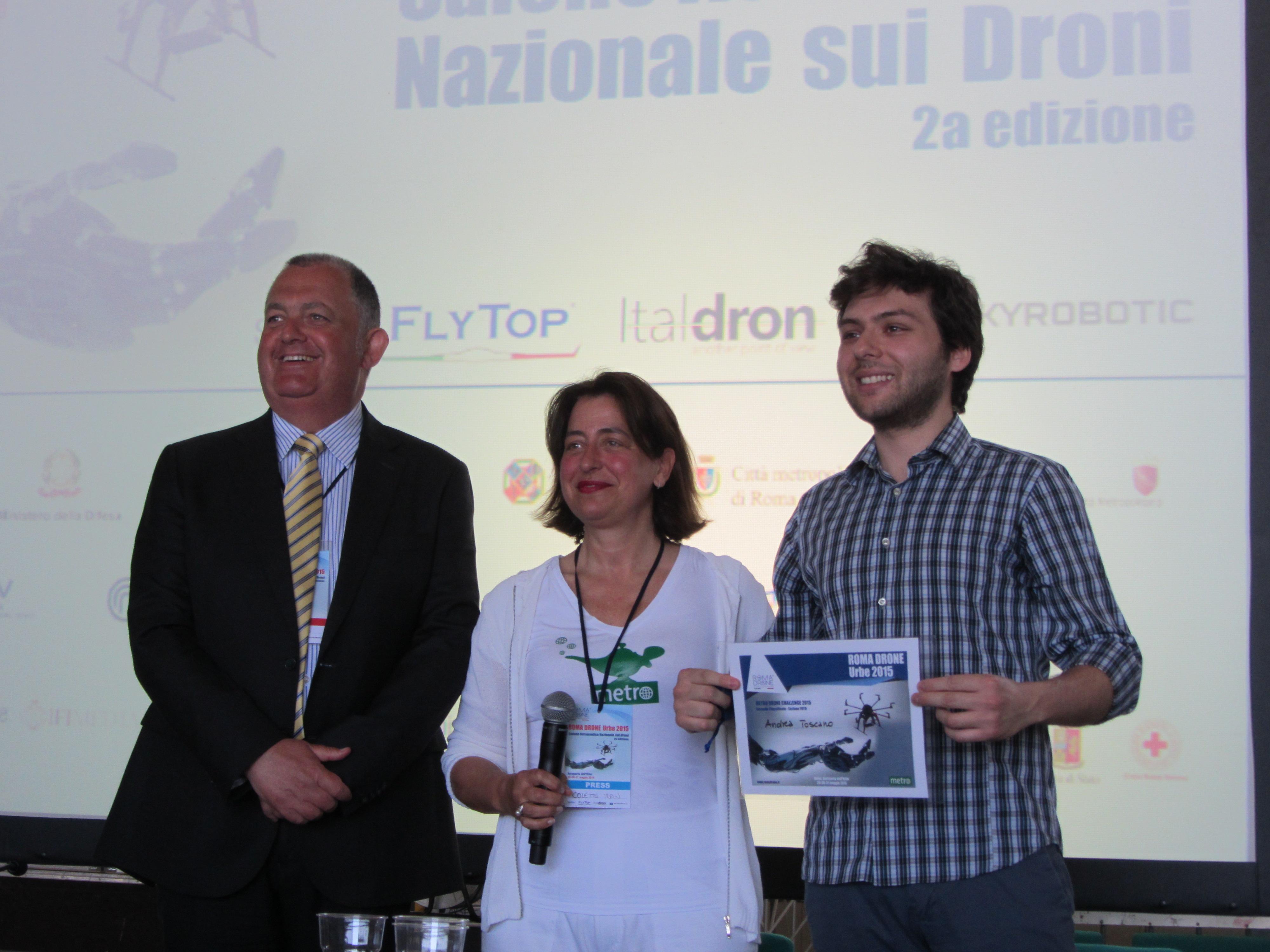 Metro Drone Challenge - Andrea Toscano - Award Ceremony (Rome Drone Expo 2015)