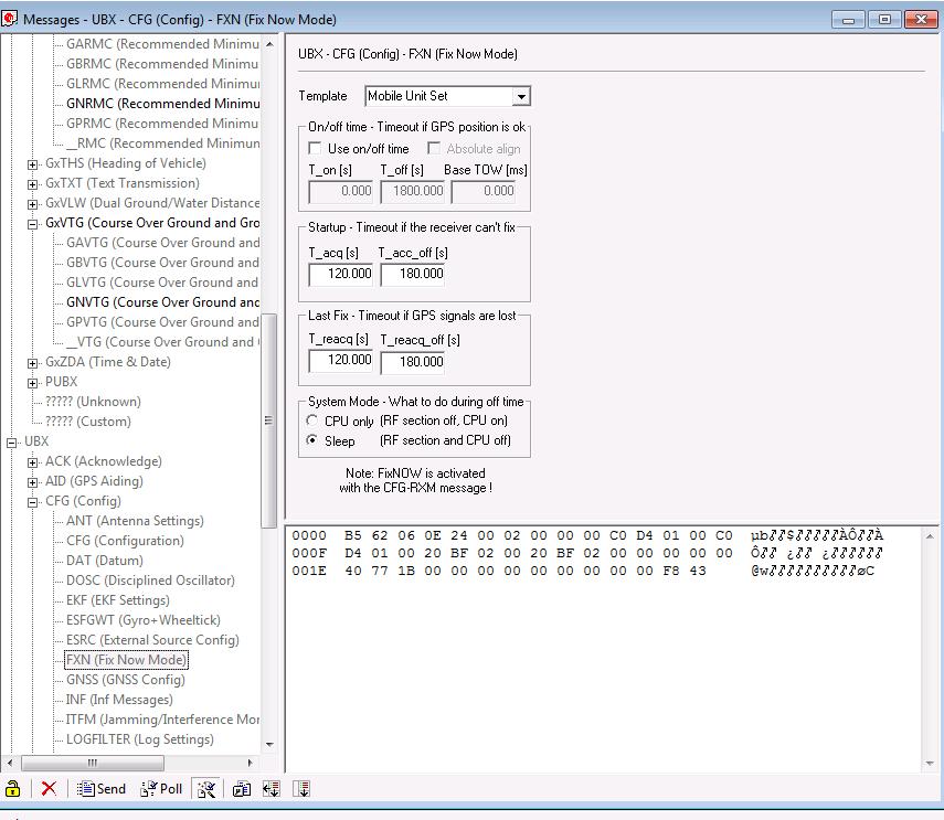 U-Blox Neo M8N U-Center configuration and Arduino parser sketch