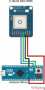 Arduino wiring Ublox Neo M8N