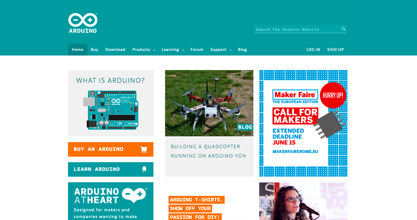 Comelicottero quadcopter on Arduino.cc website