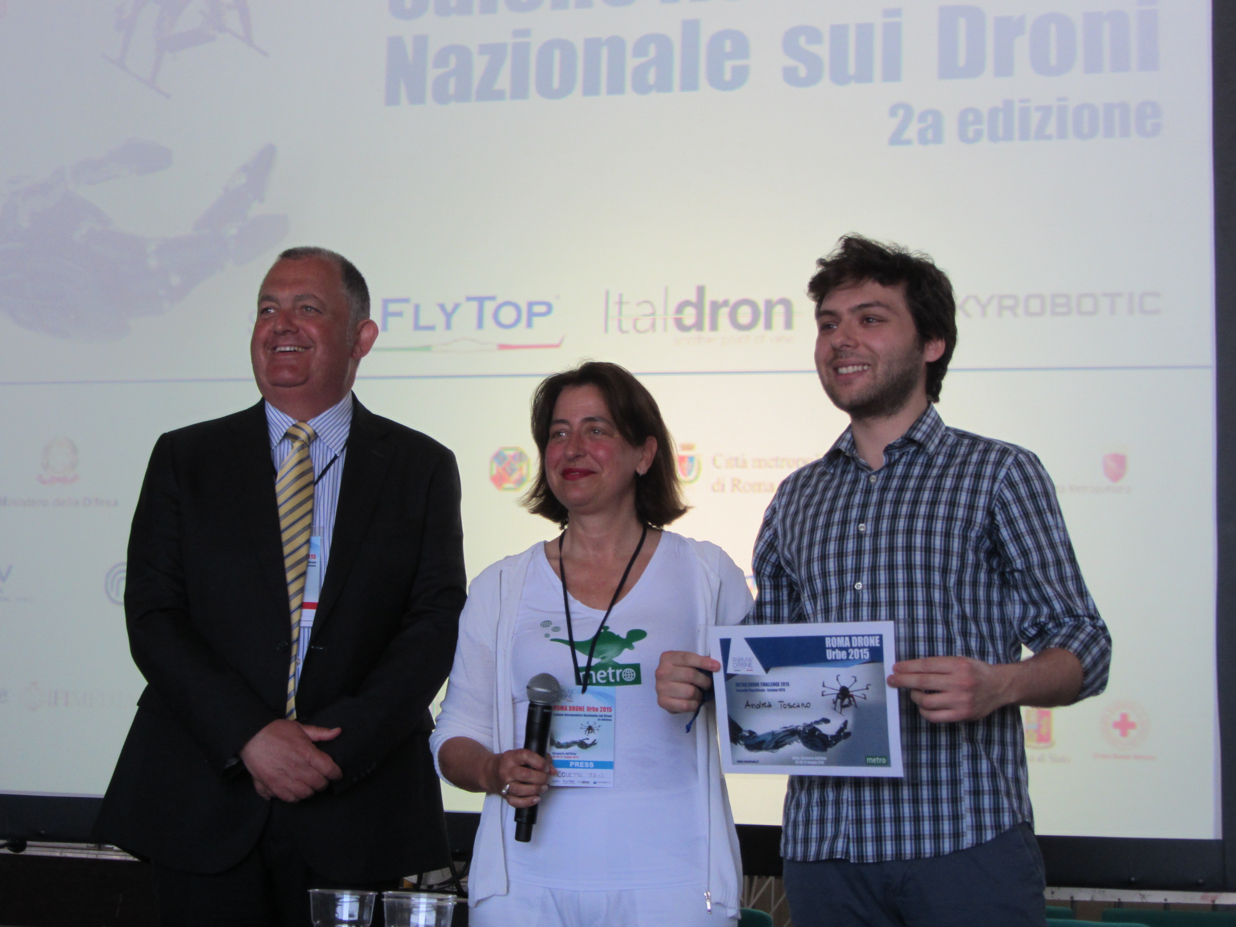 Metro Drone Challenge (Roma Drone 2015) – 2nd place winner