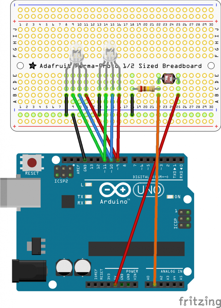 Arduino Light Mood Lamp Fritzing