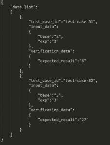 Component A Unit Test Configuration File